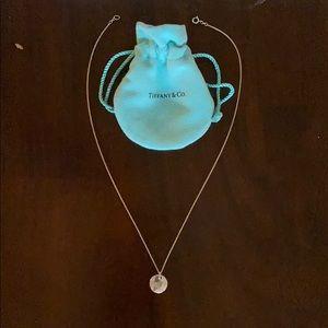 "Tiffany's silver monogram ""M"" necklace"